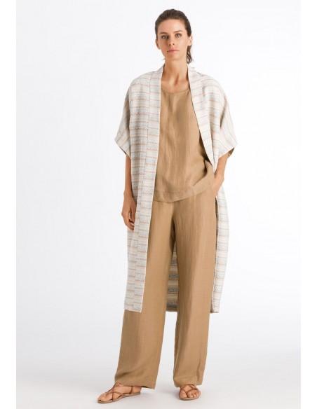 Kimono abierto de mezcla de...