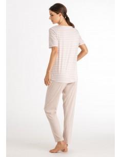 Pijama largo de manga corta...