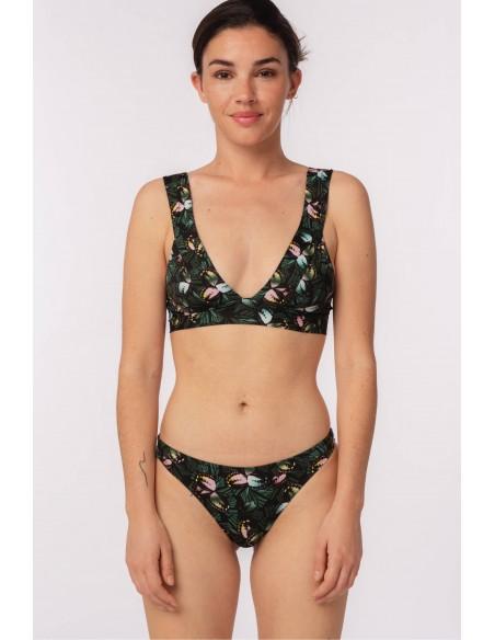 Bikini halter d'estampat...