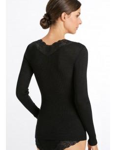 Camiseta de lana merino y...