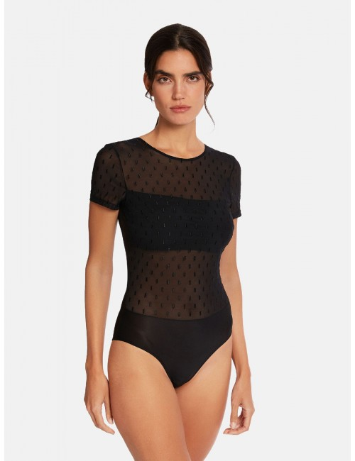 Body de tul bordado de Wolford