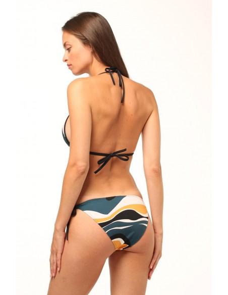 Bikini cortina estampado de...