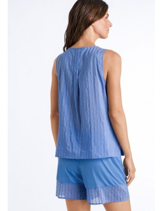 Pijama curt de modal i seda...