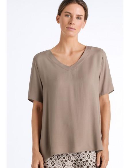 Camiseta casual de viscosa...
